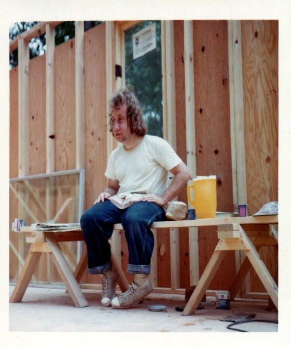 Jim Lynch after a hard days house building