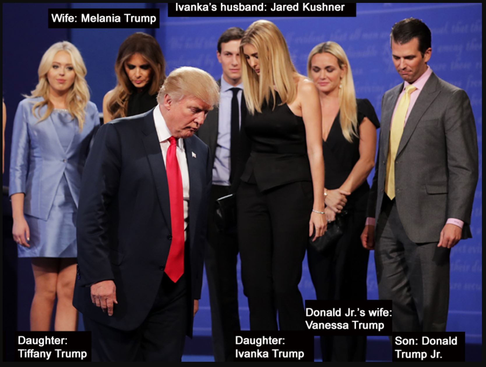Trump Family at Debate
